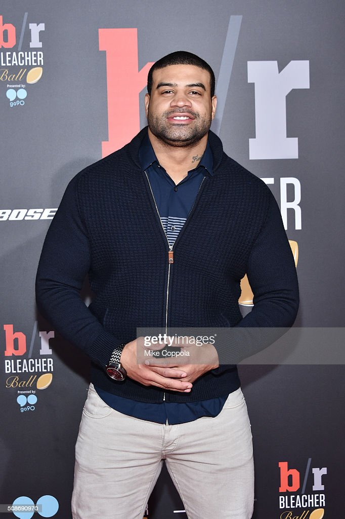 Former NFL player Shawne Merriman attends Bleacher Report's 'Bleacher Ball' presented by go90 at The Mezzanine prior to Sunday's big game on February 5, 2016 in San Francisco, California.
