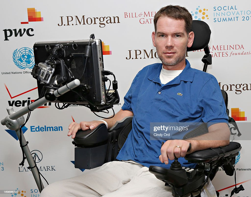 Former NFL player <a gi-track='captionPersonalityLinkClicked' href=/galleries/search?phrase=Steve+Gleason&family=editorial&specificpeople=749005 ng-click='$event.stopPropagation()'>Steve Gleason</a> attends the Social Innovation Summit May 2013 - Day Two on May 30, 2013 in New York City.