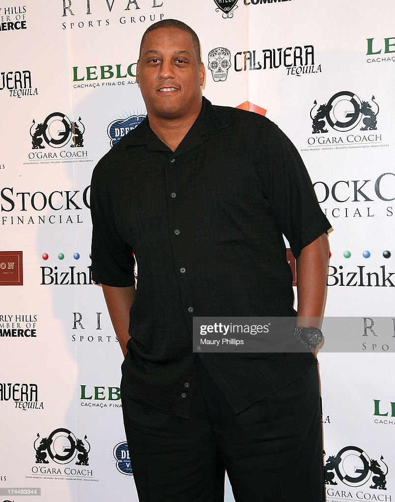 Former NFL player Tate George arrives at the 40th Anniversary StockCross Party on July 25, 2013 in Beverly Hills, California.