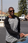 Former NFL player Terrell Owens arrives at the 16th annual Charity BasketBowl Challenge at Keystone Lanes on February 27 2016 in Norwalk California...