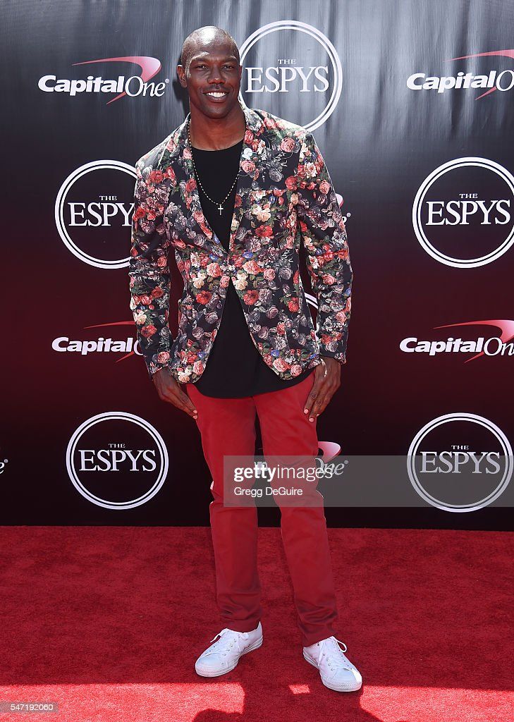 Former NFL player Terrell Owens arrives at The 2016 ESPYS at Microsoft Theater on July 13, 2016 in Los Angeles, California.