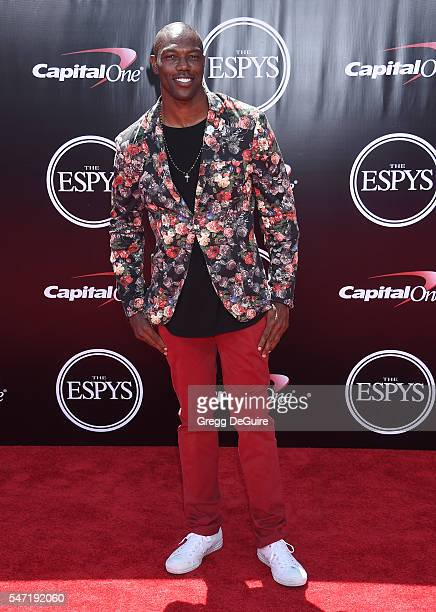 Former NFL player Terrell Owens arrives at The 2016 ESPYS at Microsoft Theater on July 13 2016 in Los Angeles California