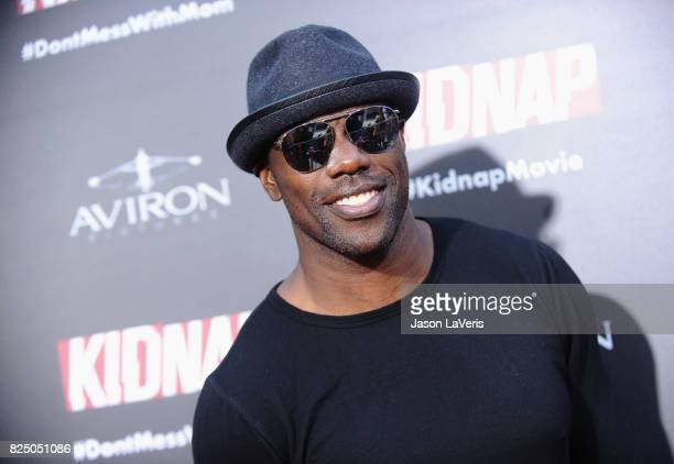 Former NFL player Terrell Owens attends the premiere of 'Kidnap' at ArcLight Hollywood on July 31 2017 in Hollywood California