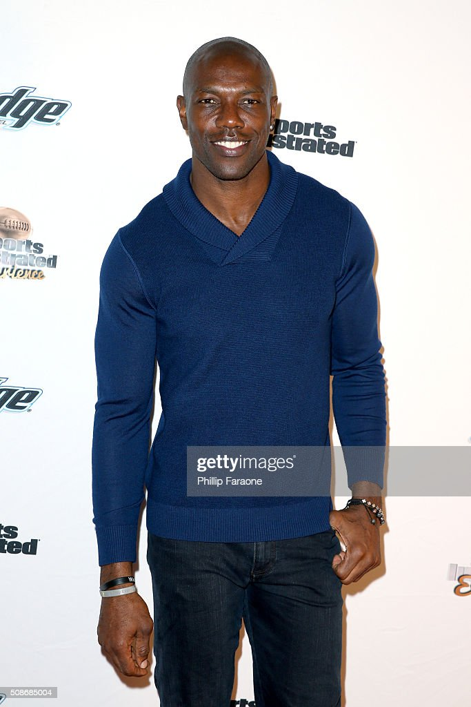 Former NFL player Terrell Owens attends the Sports Illustrated Experience Friday Night Party on February 5, 2016 in San Francisco, California.