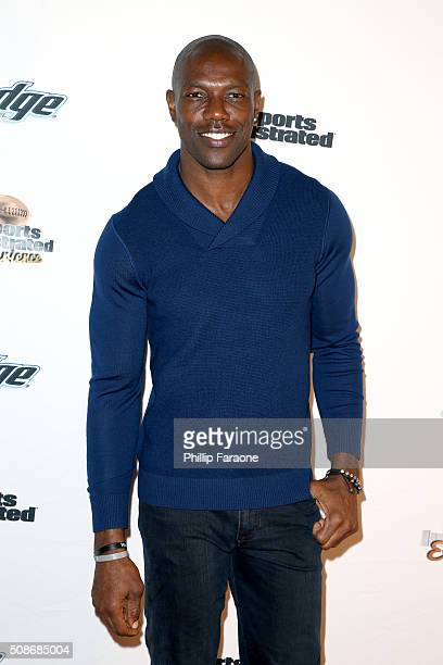 Former NFL player Terrell Owens attends the Sports Illustrated Experience Friday Night Party on February 5 2016 in San Francisco California