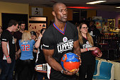 Former NFL player Terrell Owens participates in the 16th annual Charity BasketBowl Challenge at Keystone Lanes on February 27 2016 in Norwalk...