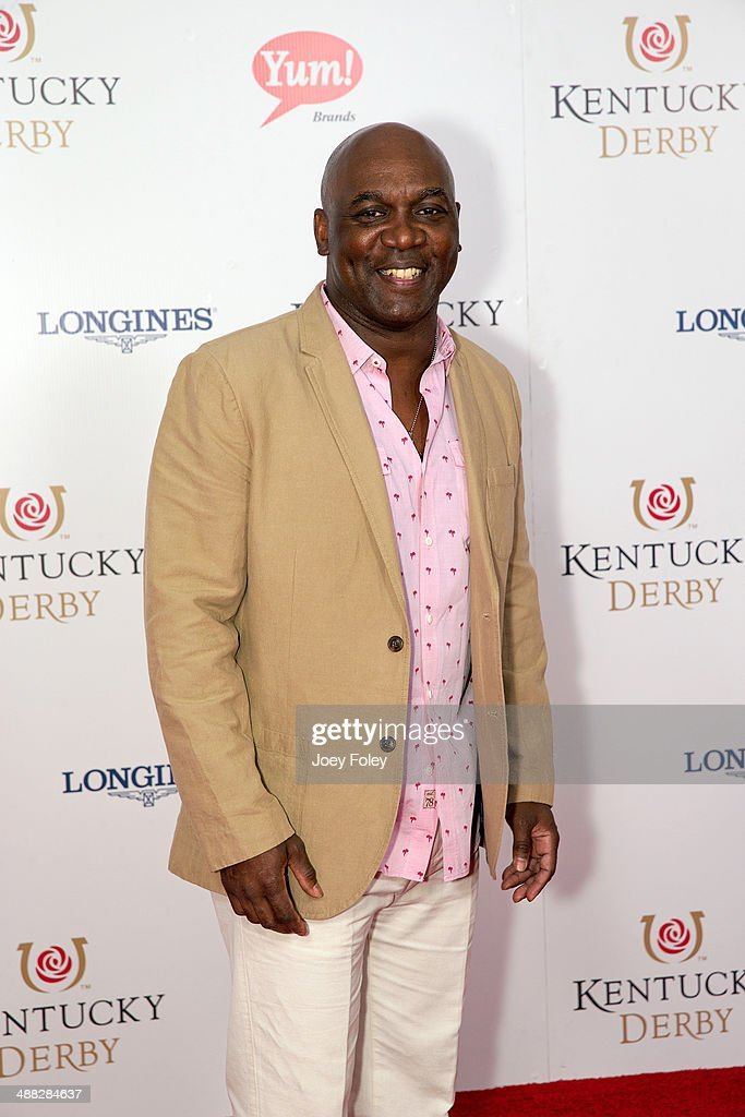 Former NFL player <a gi-track='captionPersonalityLinkClicked' href=/galleries/search?phrase=Thurman+Thomas&family=editorial&specificpeople=575635 ng-click='$event.stopPropagation()'>Thurman Thomas</a> attends the 140th Kentucky Derby at Churchill Downs on May 3, 2014 in Louisville, Kentucky.