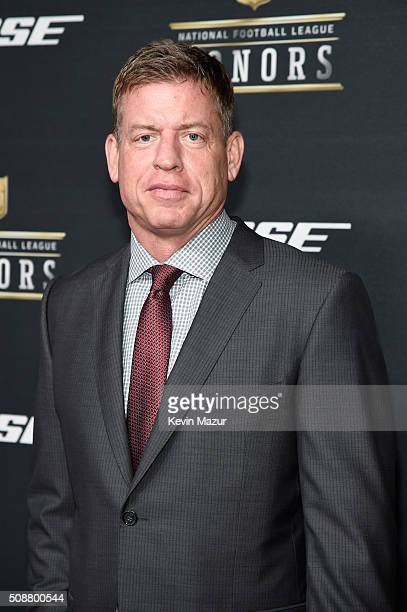 Former NFL player Troy Aikman attends the 5th annual NFL Honors at Bill Graham Civic Auditorium on February 6 2016 in San Francisco California