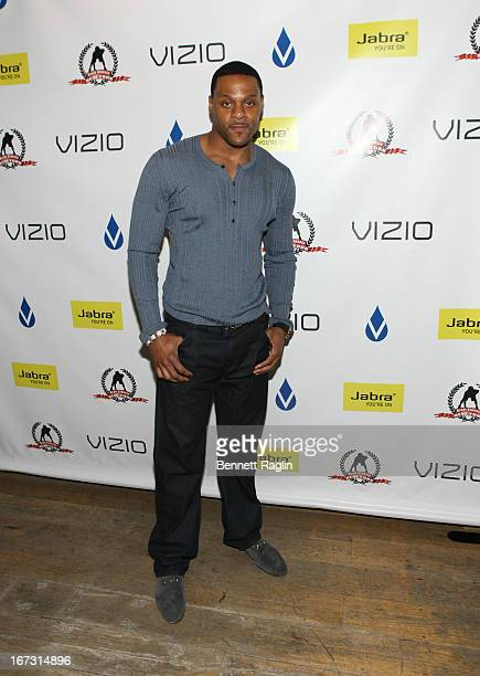 Former NFL player Visanthe Shiancoe attends the 2013 Official Professional Football Draft Classic Extravaganza on April 23 2013 in New York City