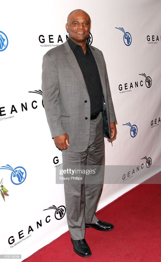 Former NFL Player <a gi-track='captionPersonalityLinkClicked' href=/galleries/search?phrase=Warren+Moon&family=editorial&specificpeople=226907 ng-click='$event.stopPropagation()'>Warren Moon</a> arrives at The GEANCO Foundation's 'Impact Africa' Fundraiser at Bootsy Bellows on July 16, 2013 in West Hollywood, California.