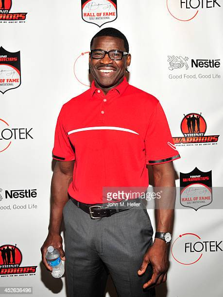 Former NFL player/actor Michael Irvin attends the Eric Dickerson Hall Of Fame Golf Invitational on July 24 2014 at Moorpark Country Club in Moorpark...