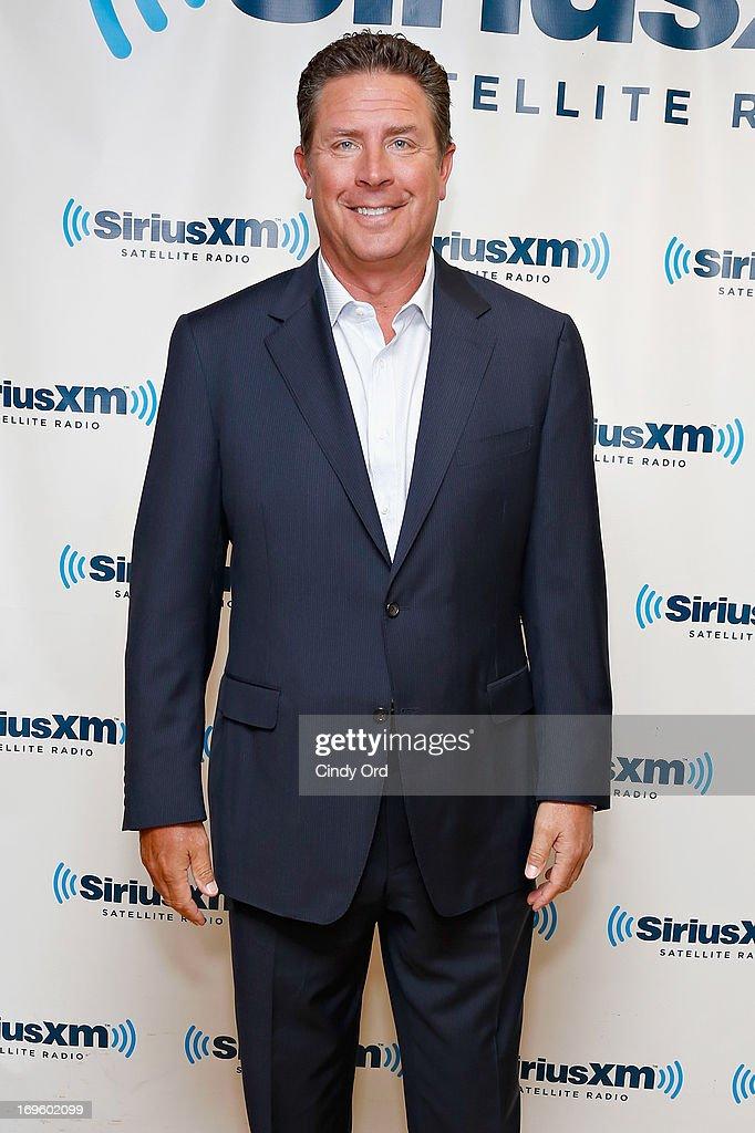 Former NFL quarterback Dan Marino visits the SiriusXM Studios on May 28, 2013 in New York City.