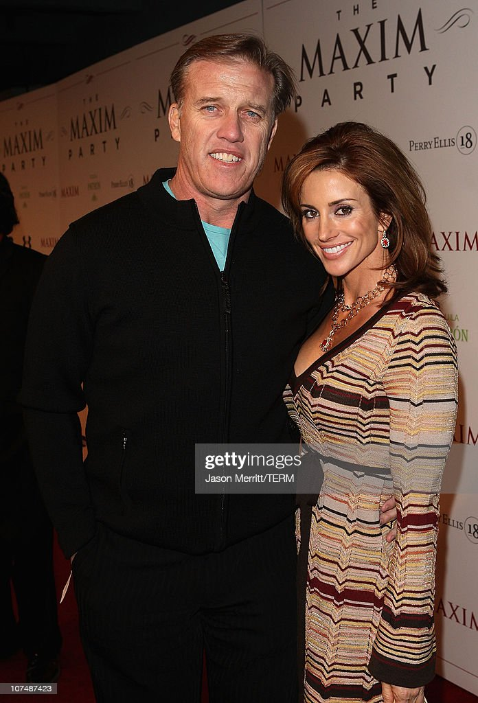 Former NFL quarterback John Elway and wife Janet Elway attend the MAXIM magazine kicks off Super Bowl weekend at the Grand Opening of Stone Rose...