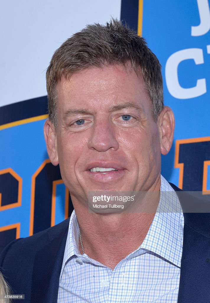Former NFL quarterback <a gi-track='captionPersonalityLinkClicked' href=/galleries/search?phrase=Troy+Aikman&family=editorial&specificpeople=206871 ng-click='$event.stopPropagation()'>Troy Aikman</a> attends the VIP Appreciation Celebrity Reception celebrating the 9th Annual Jim Mora Celebrity Golf Classic at W Los Angeles West Beverly Hills on May 17, 2015 in Los Angeles, California.