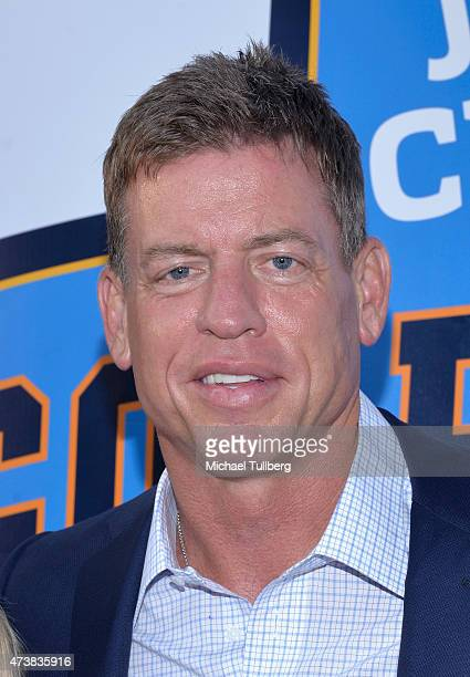 Former NFL quarterback Troy Aikman attends the VIP Appreciation Celebrity Reception celebrating the 9th Annual Jim Mora Celebrity Golf Classic at W...