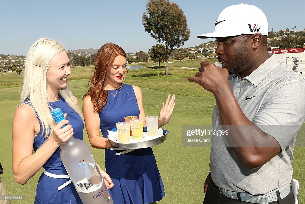 Former NFL running back Marshall Faulk (R) attends the Marshall Faulk Celebrity Golf Championship Presented by GREY GOOSE held at La Costa Resort & Spa on May 19, 2013 in Carlsbad, California.