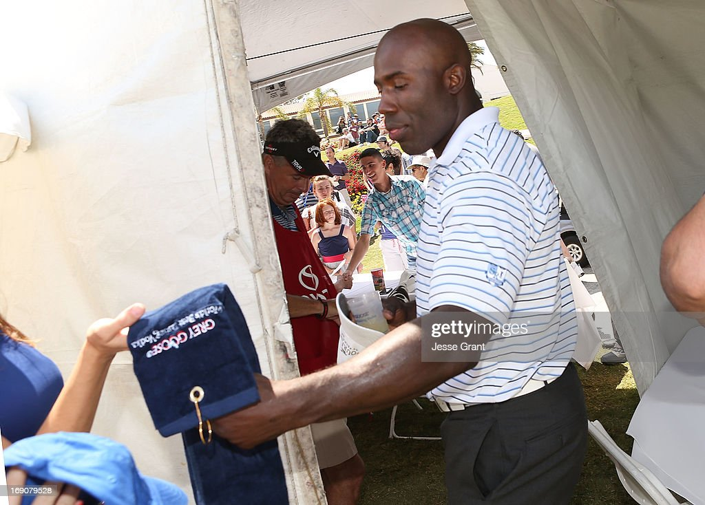 Former NFL running back Terrell Davis attends the Marshall Faulk Celebrity Golf Championship Presented by GREY GOOSE held at La Costa Resort & Spa on May 19, 2013 in Carlsbad, California.