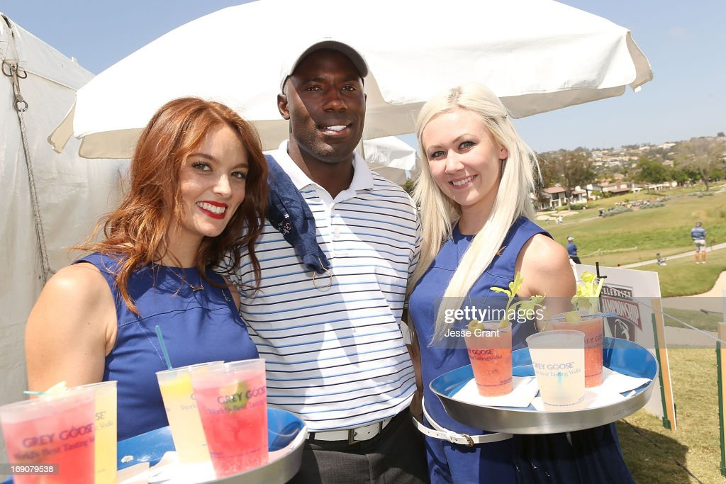 Former NFL running back Terrell Davis (C) attends the Marshall Faulk Celebrity Golf Championship Presented by GREY GOOSE held at La Costa Resort & Spa on May 19, 2013 in Carlsbad, California.