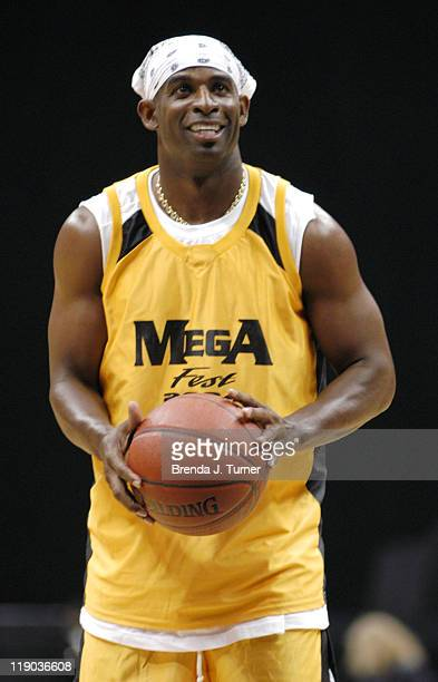 Former NFL star Jayson Deion Sanders participates in The Mega Fest 2004 event Hosted by Magic Johnson commentated by former NFL star Michael Irvin...