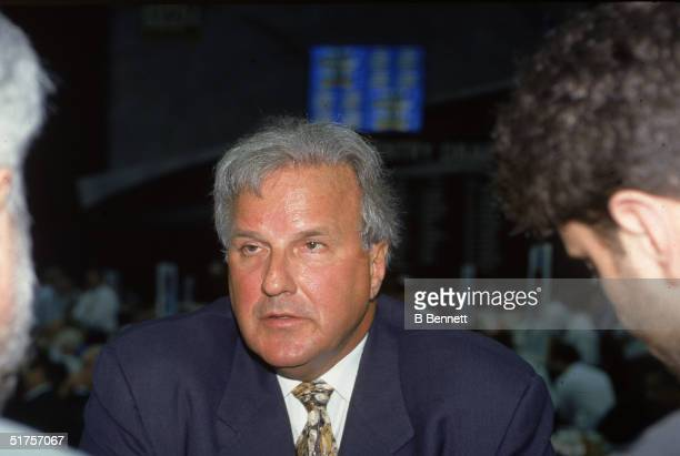 Former NHL player agent Bill Watters talks during the 1997 league draft in Pittsburgh Pennsylvania 1997