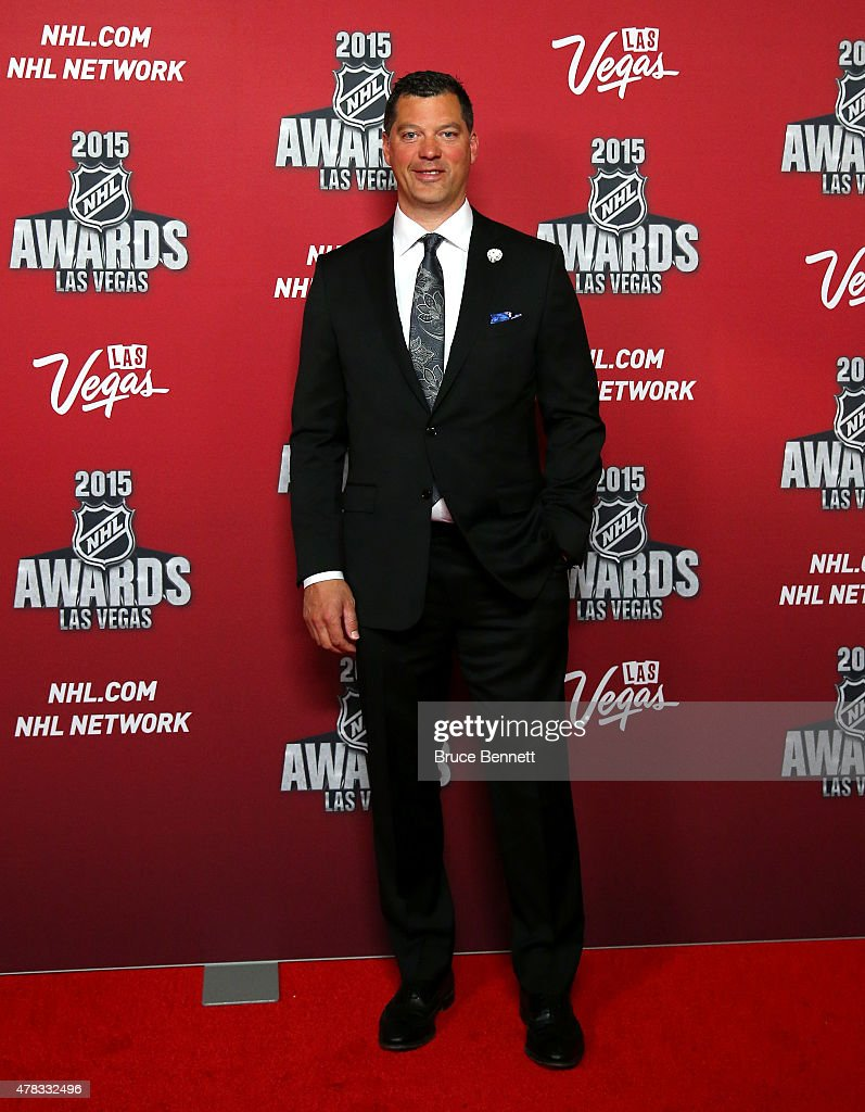 Former NHL player Bill Guerin arrives on the red carpet before the 2015 NHL Awards at MGM Grand Garden Arena on June 24 2015 in Las Vegas Nevada