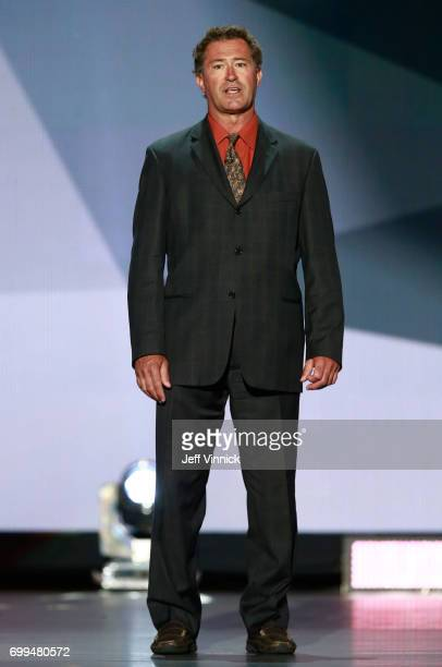 Former NHL player Bobby Carpenter speaks onstage during the 2017 NHL Awards Expansion Draft at TMobile Arena on June 21 2017 in Las Vegas Nevada