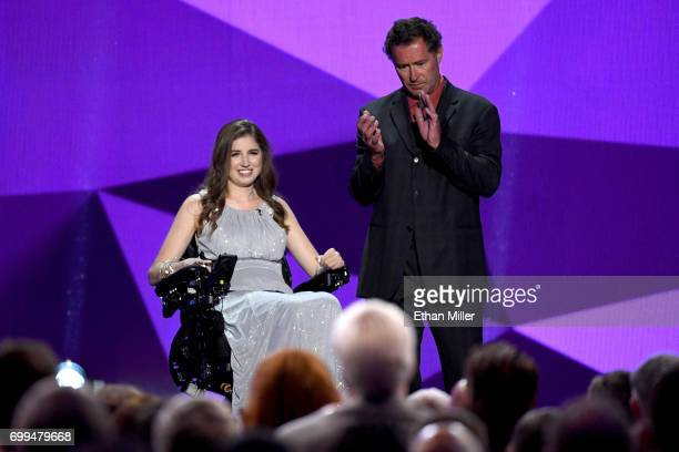 Former NHL player Bobby Carpenter with Denna Laing during the 2017 NHL Awards and Expansion Draft at TMobile Arena on June 21 2017 in Las Vegas Nevada