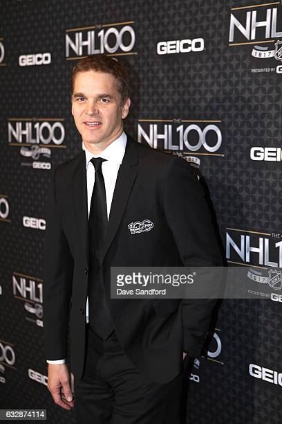 Former NHL player Luc Robitaille arrives for the NHL 100 presented by GEICO show as part of the 2017 NHL AllStar Weekend at the Microsoft Theater on...