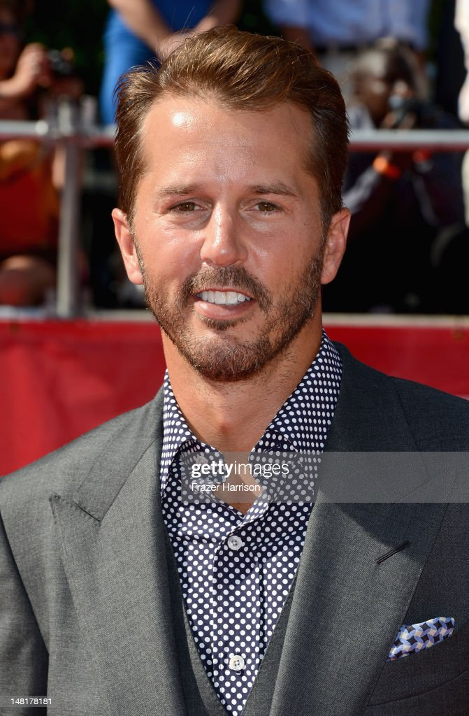 Former NHL player <a gi-track='captionPersonalityLinkClicked' href=/galleries/search?phrase=Mike+Modano&family=editorial&specificpeople=202511 ng-click='$event.stopPropagation()'>Mike Modano</a> arrives at the 2012 ESPY Awards at Nokia Theatre L.A. Live on July 11, 2012 in Los Angeles, California.