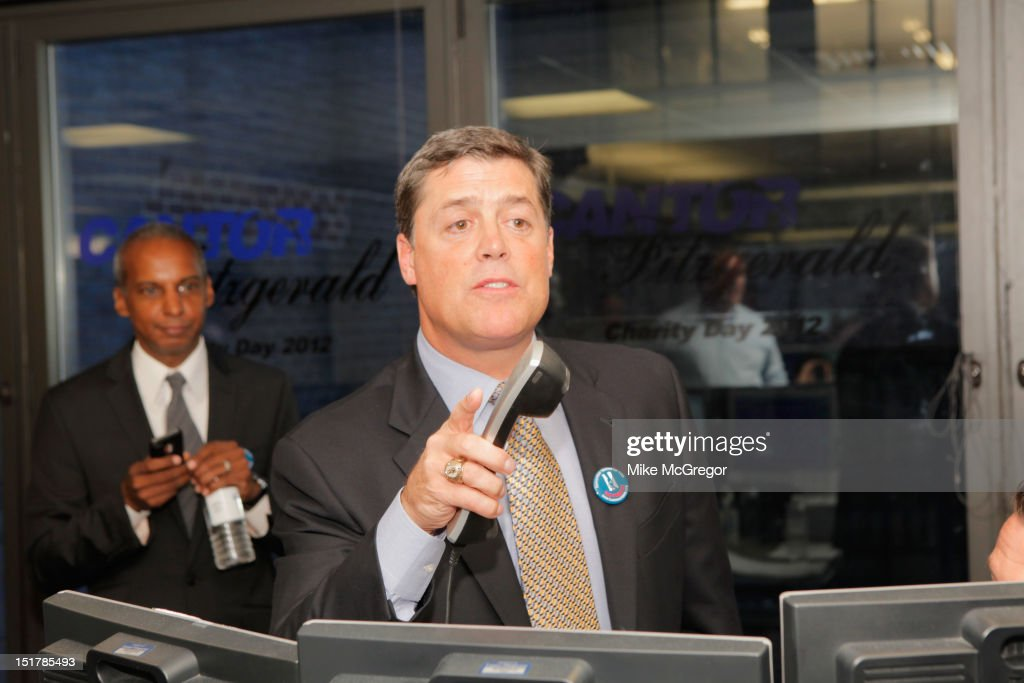 Former NHL player Pat LaFontaine attends Cantor Fitzgerald & BGC Partners host annual charity day on 9/11 to benefit over 100 charities worldwide at Cantor Fitzgerald on September 11, 2012 in New York City.