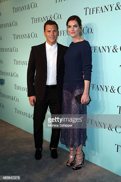 Former NHL player Sean Avery and model Hilary Rhoda attend the 2014 Tiffany's Blue Book Gala at the Guggenheim Museum on April 10 2014 in New York...