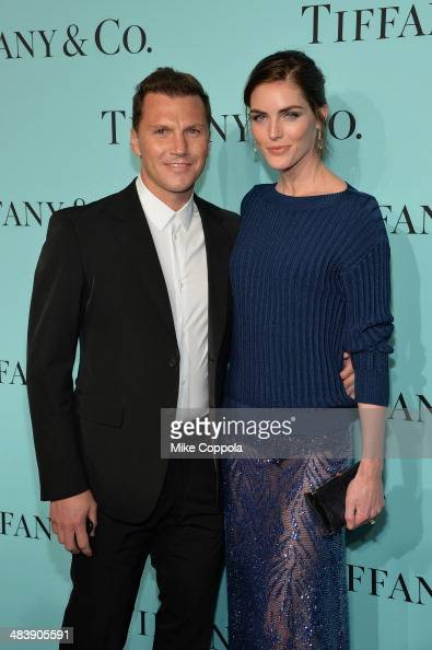 Former NHL player Sean Avery and model Hilary Rhoda attends the Tiffany Debut of the 2014 Blue Book on April 10 2014 at the Guggenheim Museum in New...