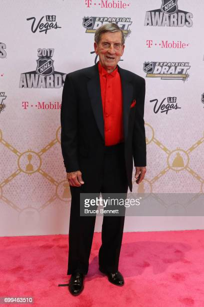 Former NHL player Ted Lindsay attends the 2017 NHL Awards at TMobile Arena on June 21 2017 in Las Vegas Nevada