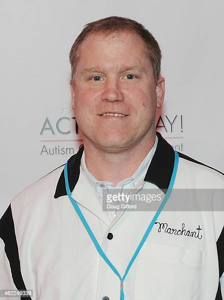 Former NHL Player Todd Marchant poses before the 4th Annual Stars and Strikes Celebrity Bowling Tournment at Bowlmor Lanes at Anaheim Garden Walk on...