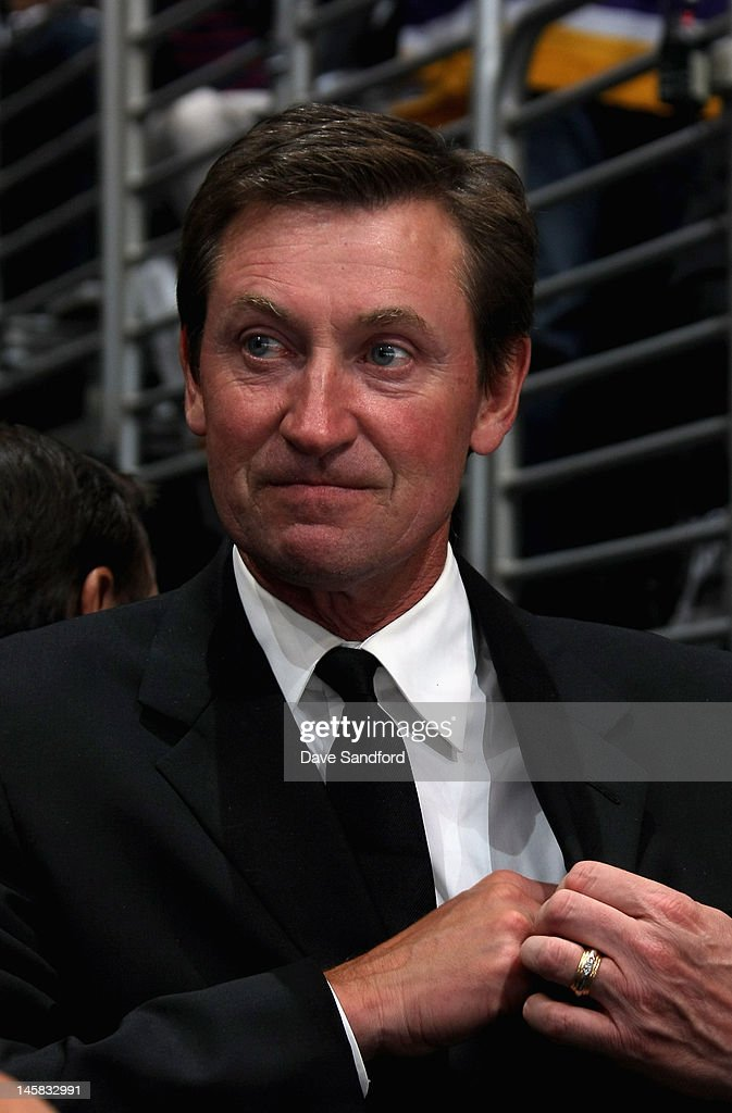 Former NHL player Wayne Gretzky attends Game Four of the 2012 Stanley Cup Final at the Staples Center on June 6, 2012 in Los Angeles, California.