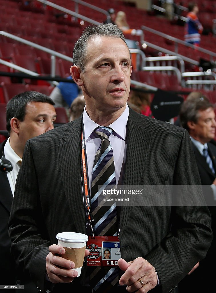 Former NHL players Ron Sutter on Day Two of the 2014 NHL Draft at the Wells Fargo Center on June 28, 2014 in Philadelphia, Pennsylvania.