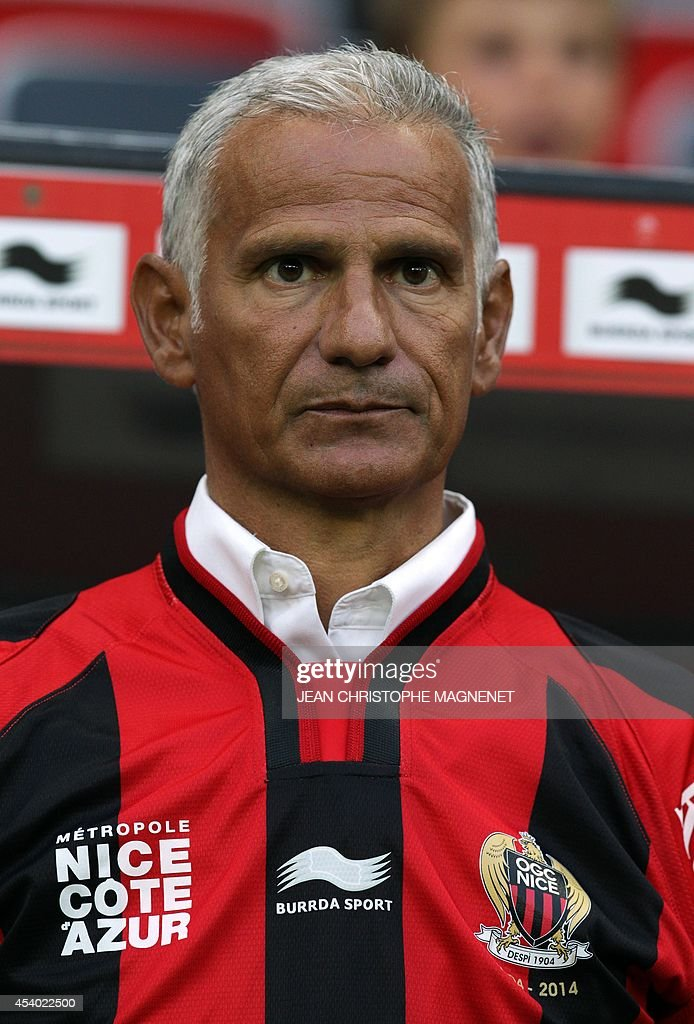 Former Nice's French head coach Rene Marsiglia looks on prior the French L1 football match Nice (OGCN) vs Bordeaux (FCGB) on August 23, 2014 at the Allianz Riviera stadium, in Nice, southeastern France.