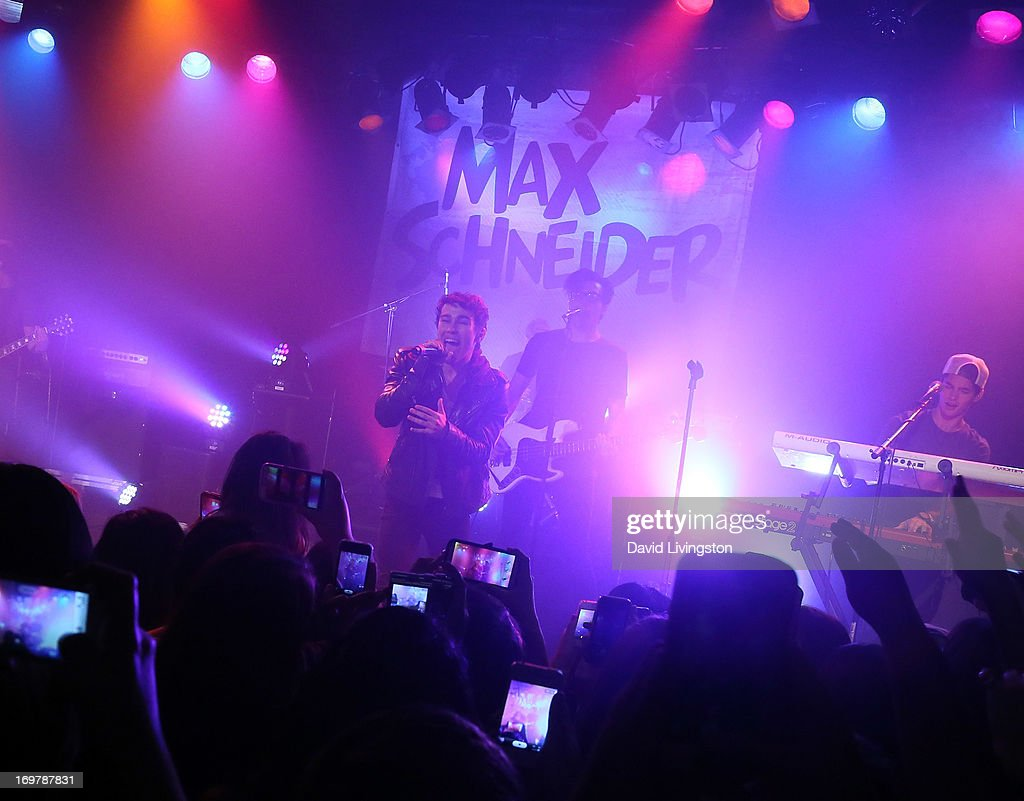 Former Nickelodeon star <a gi-track='captionPersonalityLinkClicked' href=/galleries/search?phrase=Max+Schneider&family=editorial&specificpeople=7219410 ng-click='$event.stopPropagation()'>Max Schneider</a> kicks off his 'Nothing Without Love' summer tour at the Roxy Theatre on June 1, 2013 in West Hollywood, California.