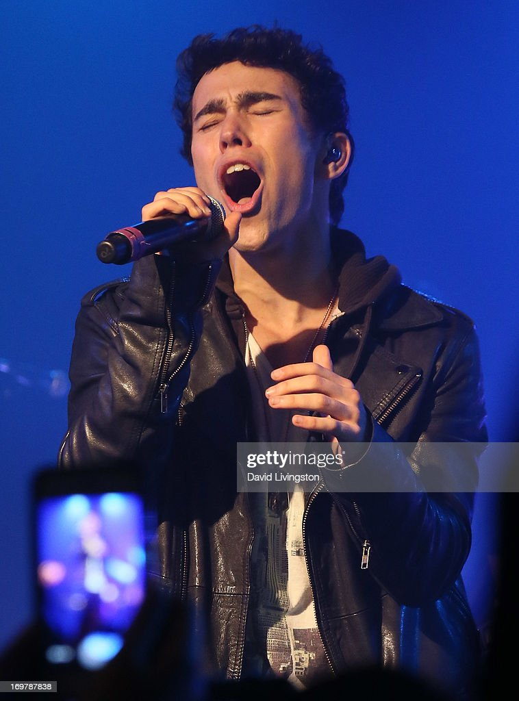 Former Nickelodeon star Max Schneider kicks off his 'Nothing Without Love' summer tour at the Roxy Theatre on June 1, 2013 in West Hollywood, California.