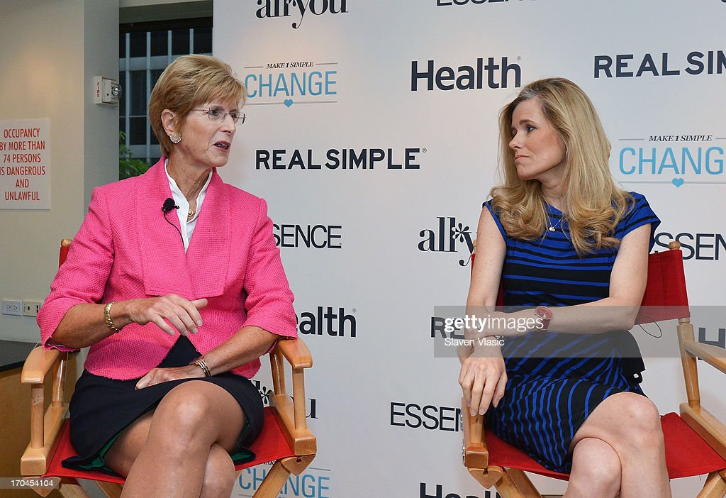 Former N.J. Governer Christine Todd Whitman and journalist Kelly Wallace attend 'Make One Simple Change' panel and breakfast at Time-Life Building on June 13, 2013 in New York City.