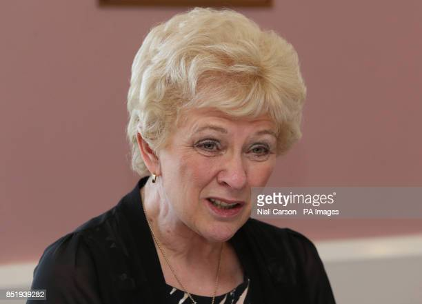 Former Northern Ireland Police Ombudsman Nuala O'Loan speaking during a press conference on behalf of the Omagh Bomb Survivors group today