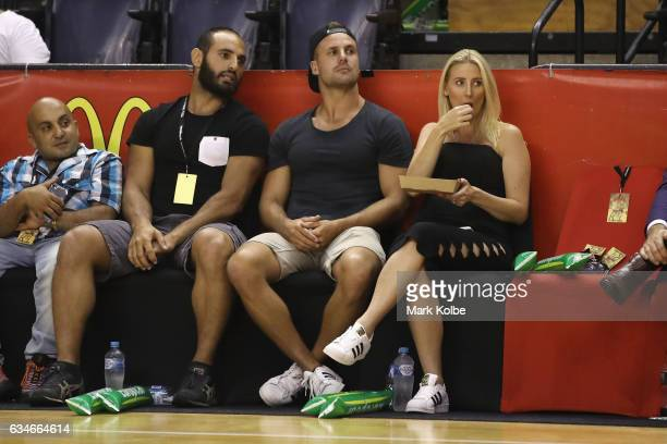 Former NRL palyer and televison personality Beau Ryan watches on during the round 19 NBL match between the Illawarra Hawks and the Brisbane Bullets...