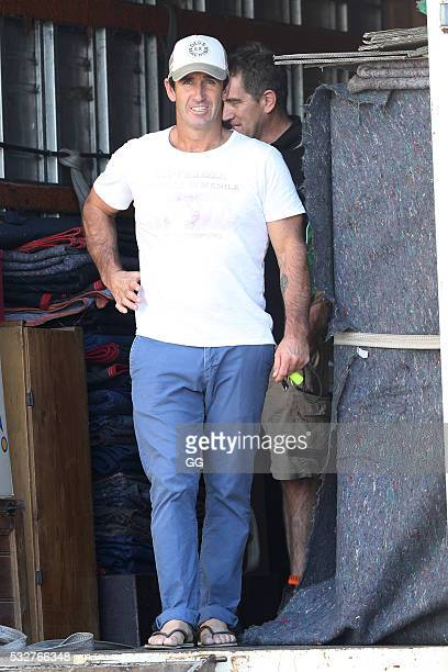 Former NRL Player Andrew Johns moves into his recently purchase property in Bronte on May 19, 2016 in Sydney, Australia.