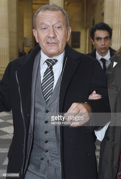 Former nurse of French L'Oreal heiress Liliane Bettencourt Alain Thurin leaves the court on October 5 2015 at the palace of justice in Bordeaux...