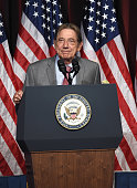 Former NY Jet and Pro Football Hall of Fame quarterback event honoree Joe Namath speaks on stage during the 75th Annual Father Of The Year Awards...