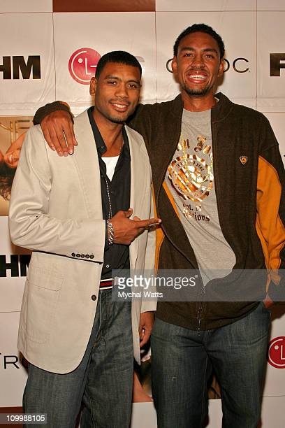 Former NY Knick Allan Houston and NY Knick Jared Jefferies