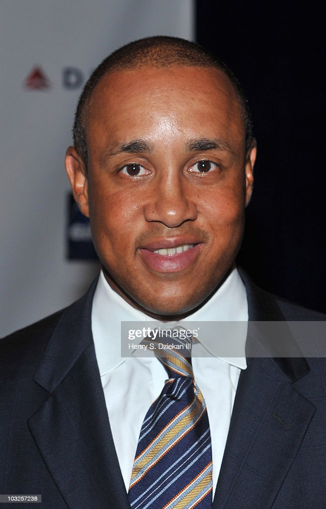 Former NY Knick John Starks attends the 14th Annual Derek Jeter Turn 2 Foundation dinner at the Sheraton New York Hotel & Towers on August 5, 2010 in New York City.