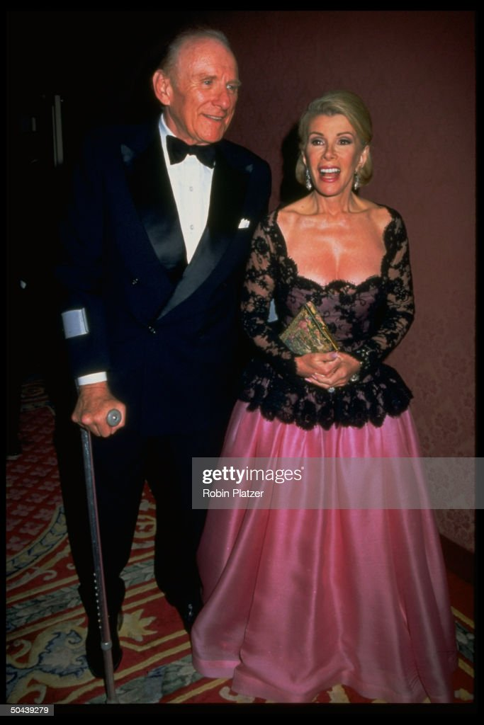 Former NY State Parks Commissioner Orin Lehman w. TV talk show host fiancee Joan Rivers at unident. formal event.