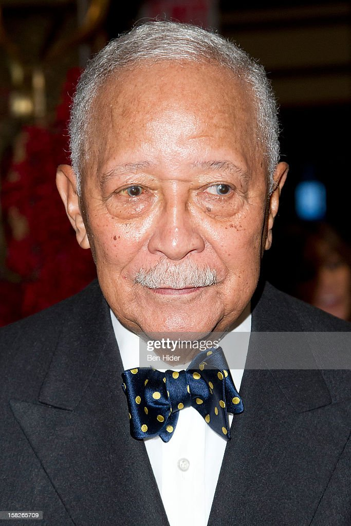Former NYC Mayer <a gi-track='captionPersonalityLinkClicked' href=/galleries/search?phrase=David+Dinkins&family=editorial&specificpeople=171317 ng-click='$event.stopPropagation()'>David Dinkins</a> attends Loews Regency Hotel Power Breakfast Event at the Loews Regency Hotel on December 12, 2012 in New York City.