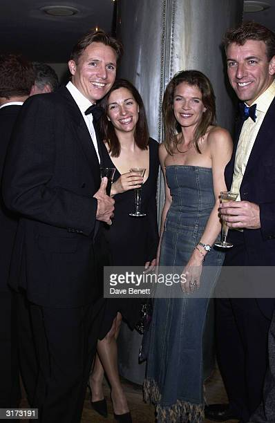 Former Olympian Roger Black with wife and former British tennis player Annabel Croft with husband during the 'Action Against Addiction' sporting arm...